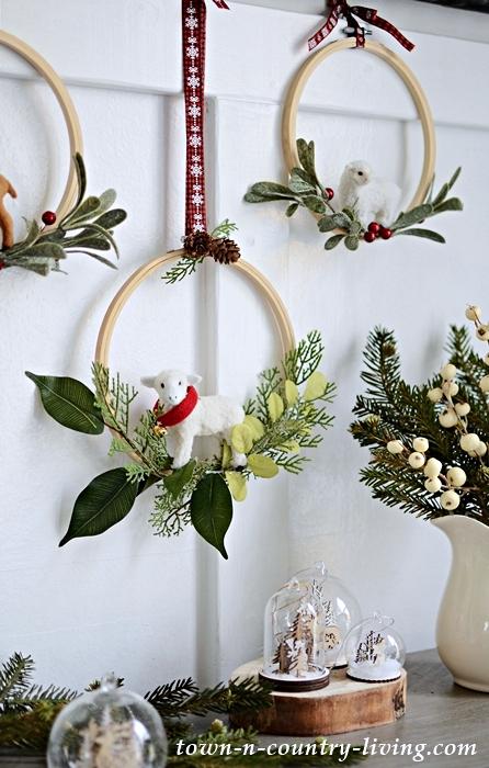 Embroidery Hoop Christmas Wreaths