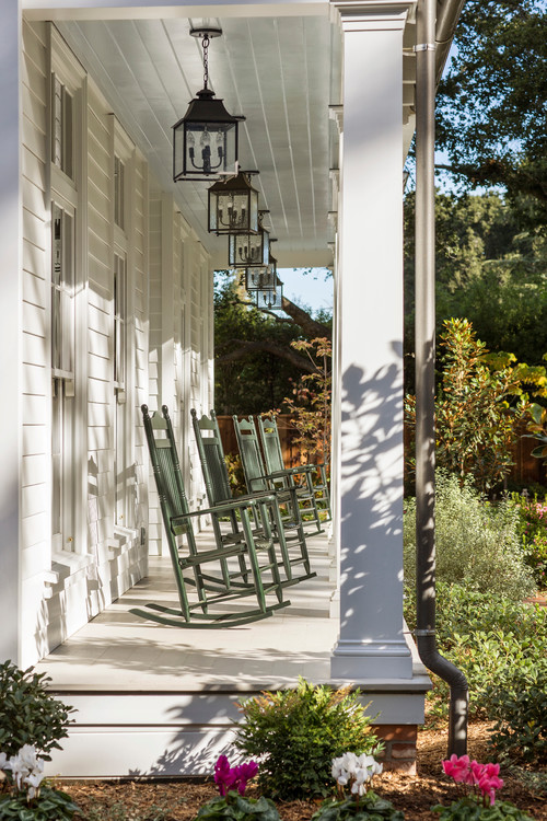 Southern Front Porch with Rocking Chairs