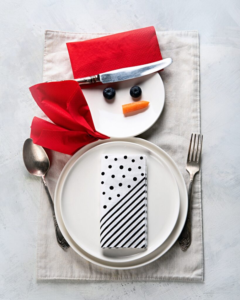 Snowman Place Setting - perfect for kids at Christmas
