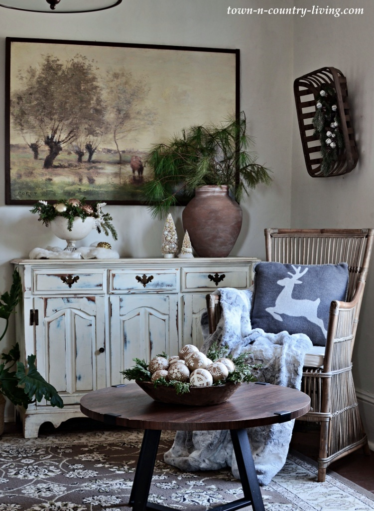 Christmas Country Home Sitting Room
