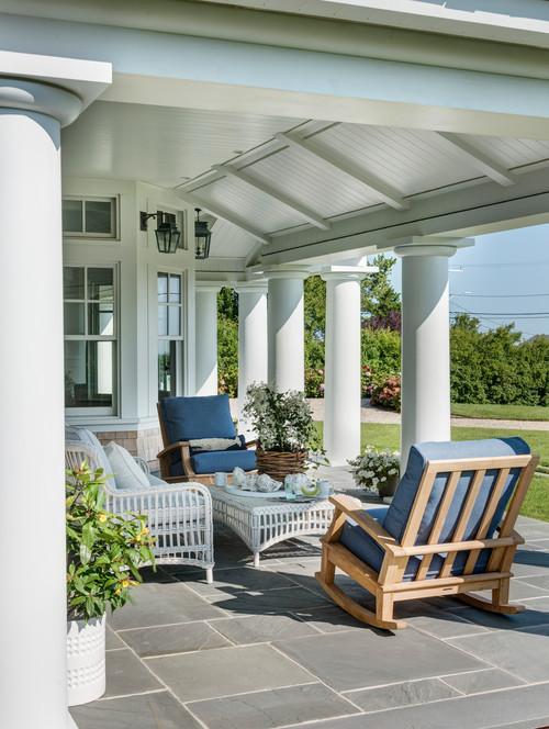 Outdoor Patio at Boston Coastal Home Remodel