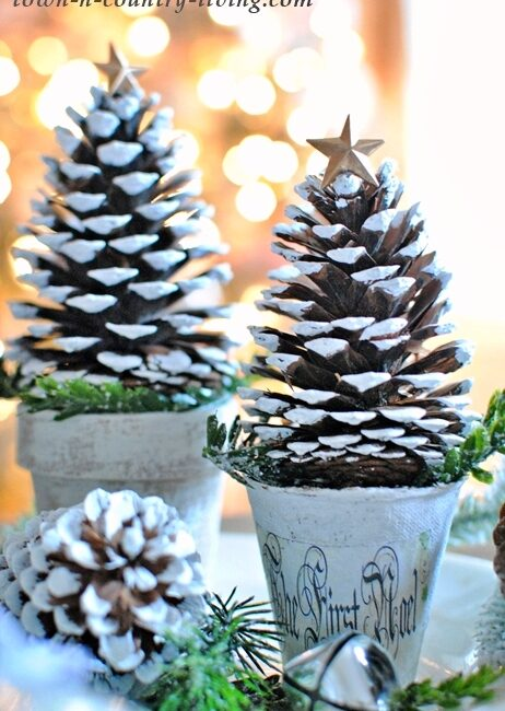 DIY Pinecone Christmas Trees for Holiday Decorating