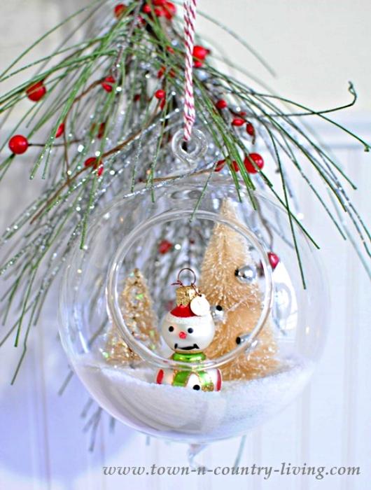 DIY Hanging Snow Globes