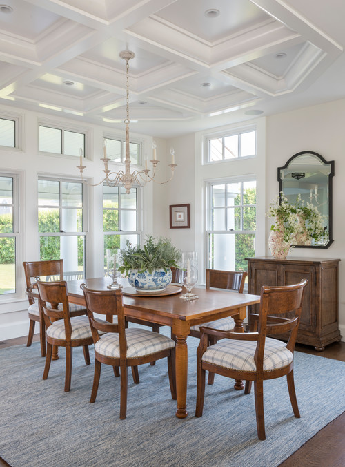 Traditional Dining Room with Custom Windows