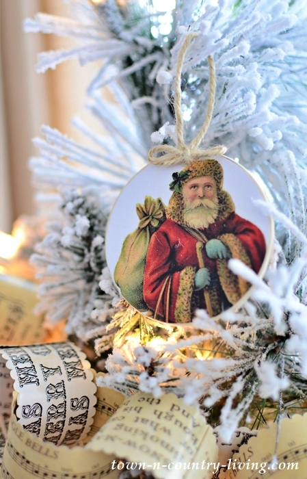 DIY Vintage Santa Ornaments
