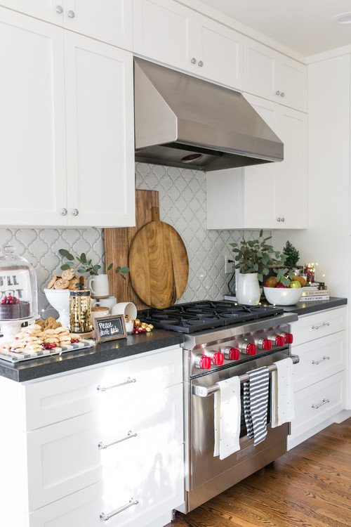 Bungalow kitchen with bread boards