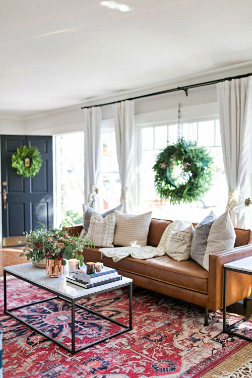 Boho Christmas in a Bungalow Home