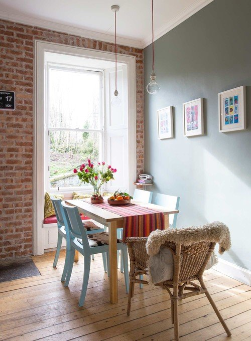 Colorful Scandinavian Style Dining Room