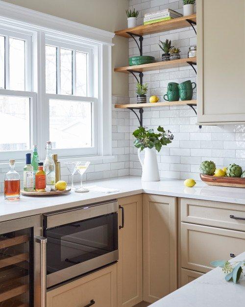 Vintage Kitchen with Sunny Windows