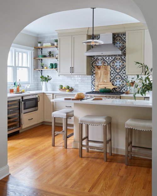 Vintage Style Kitchen Remodel with Painted Cabinets