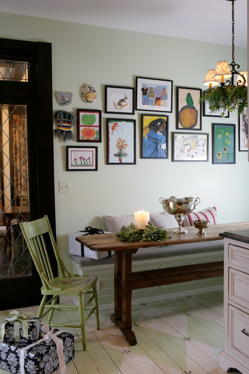 Eclectic Country Style Kitchen Breakfast Nook