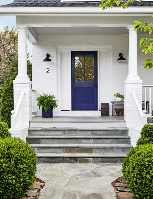 Front Porch with Deep Blue Door