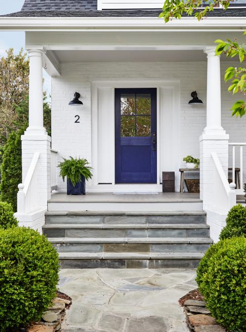 Front Porch with Deep Blue Door