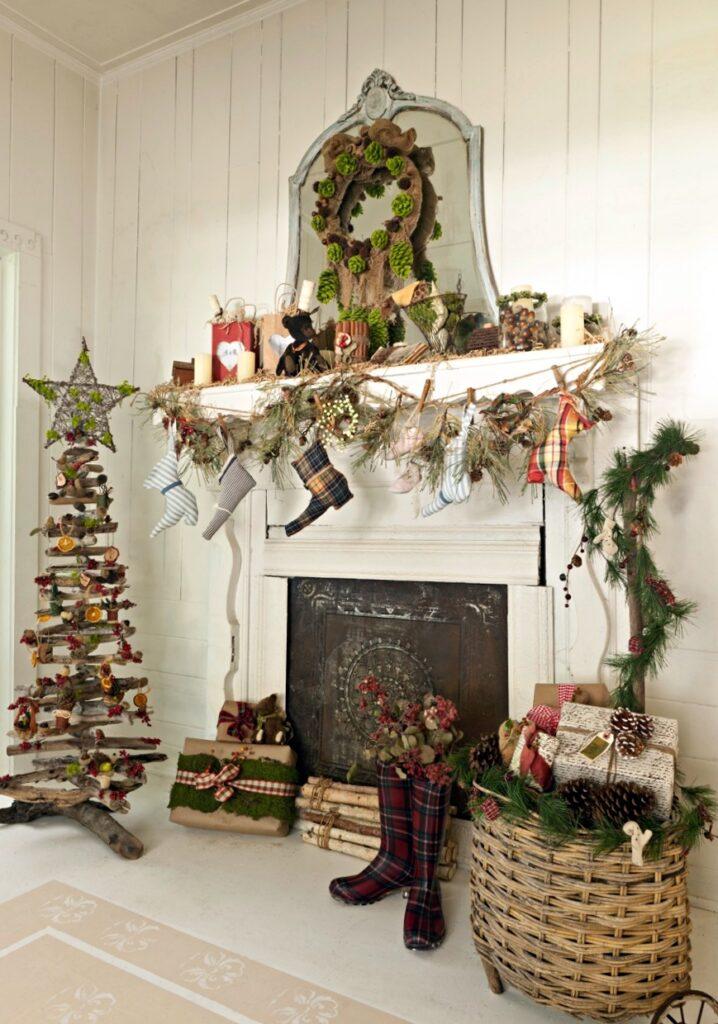 Christmas Fireplace and Mantel by Fifi O'Neill