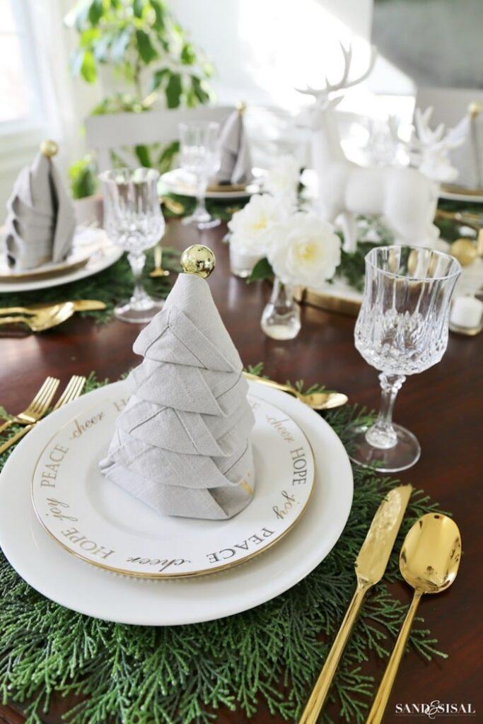 Christmas Tree Napkin by Sand and Sisal