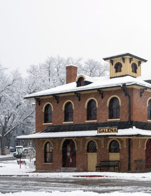 Galena, Illinois in the Snow