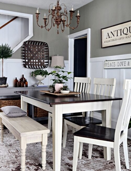 New Paint Color in Modern Country Dining Room