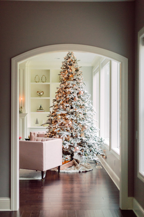 Modern Glam Christmas Home Tour - pastels and sparkle