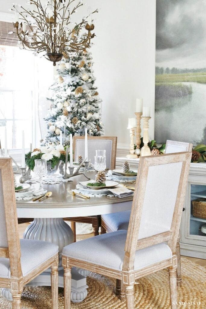 Rustic Glam Dining Room by Sand and Sisal