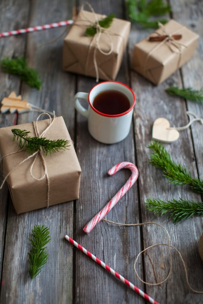 Nordic style Christmas gift wrapping