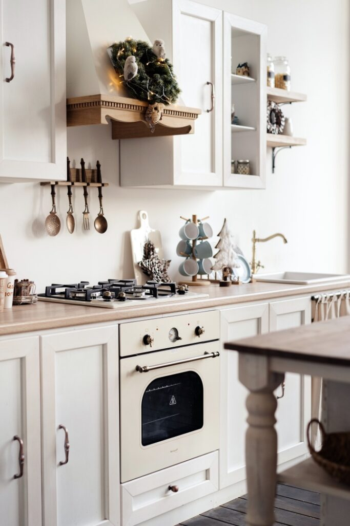 Scandinavian Kitchen Decorated for Christmas