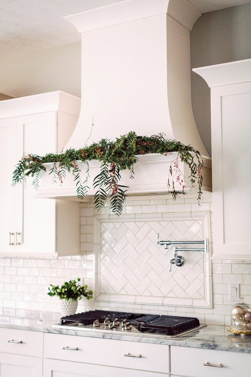 Hood Vent in Elegant French Country Kitchen