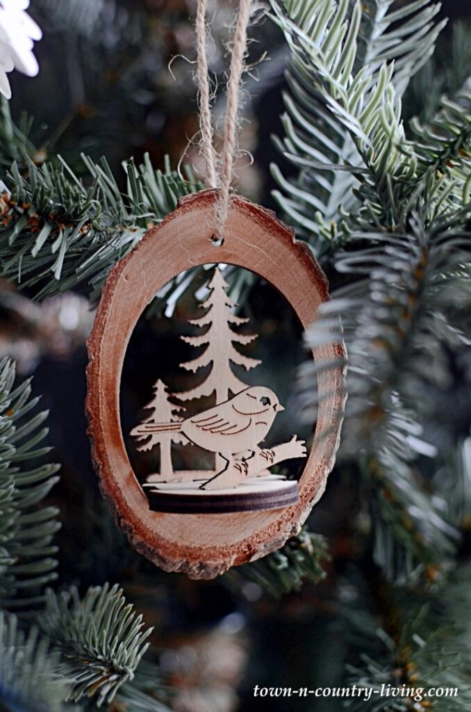 Wooden Scandinavian Style Carved Ornament