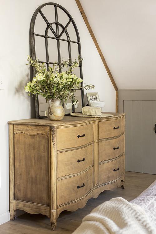 Vintage Bedroom Dresser with Arched Mirror
