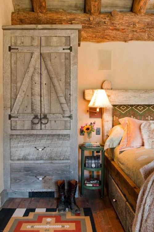 Rustic Armoire in Montana Cabin Bedroom