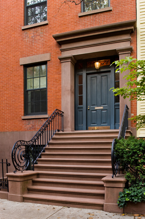 Brick Brooklyn Townhome Entry