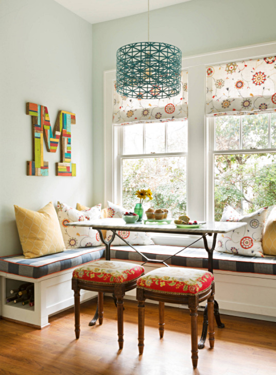 Cheery Breakfast Nook with Banquette