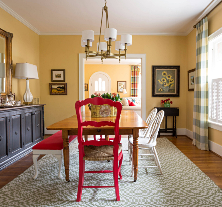 Colorful Eclectic Dining Room in Little Rock