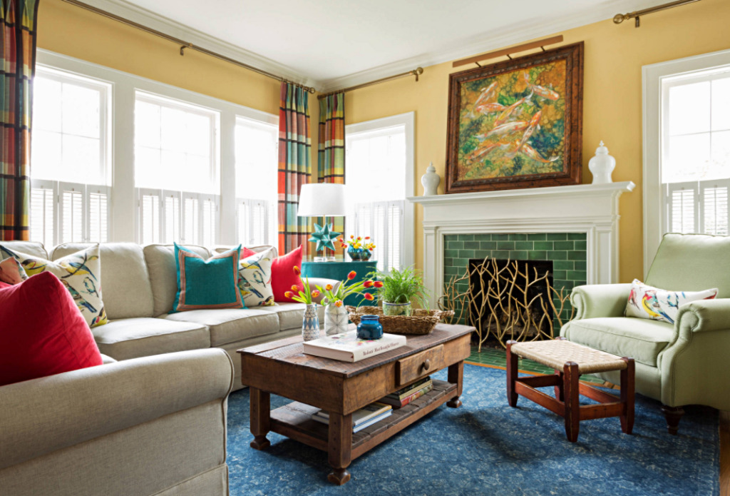 Colorful Eclectic Living Room in Little Rock