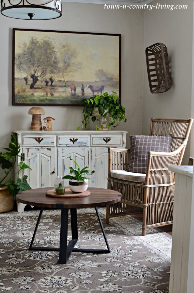 Country Style Sitting Room Painted in Lace Handkerchief by Benjamin Moore