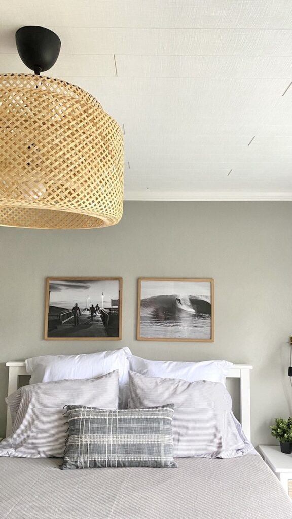 Sand and Sisal Planked Ceiling