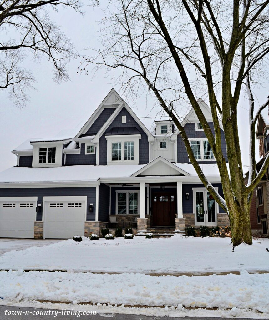 Dark Gray Two Story Traditional Home