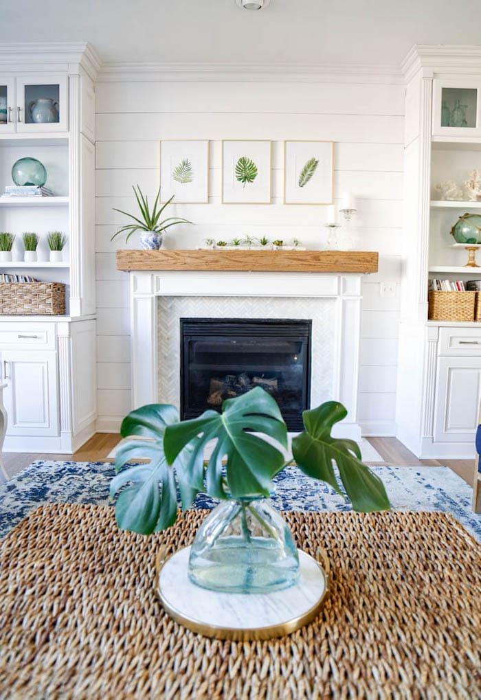 Sand and Sisal Fireplace