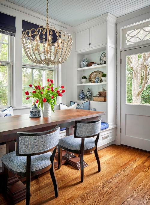 Dining Nook in an Elegant Kitchen and Pantry Remodel