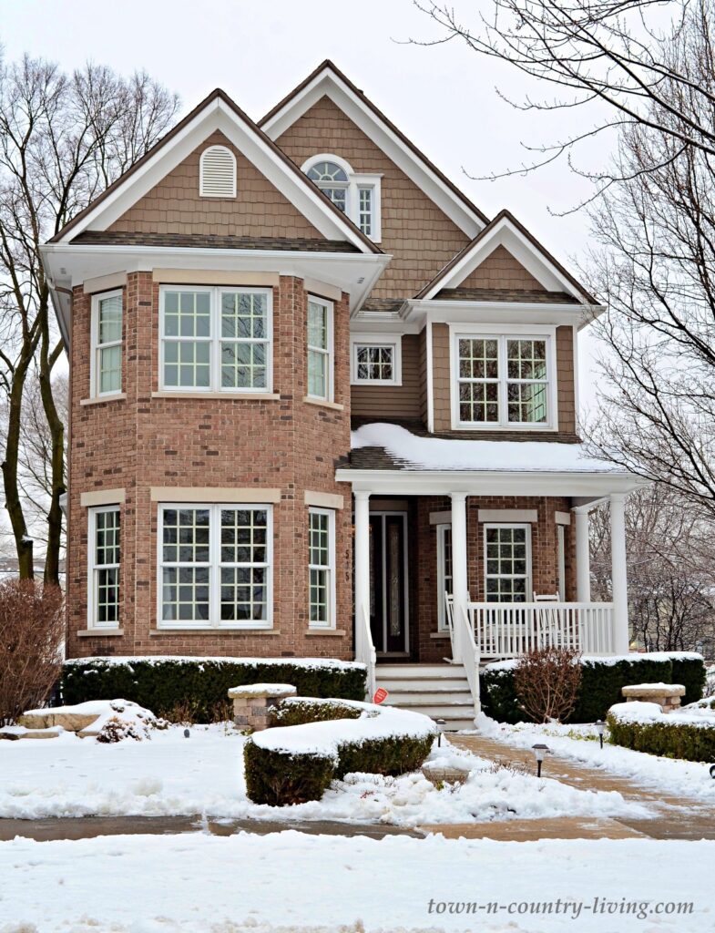 New Victorian Style Home in Brick and Vinyl