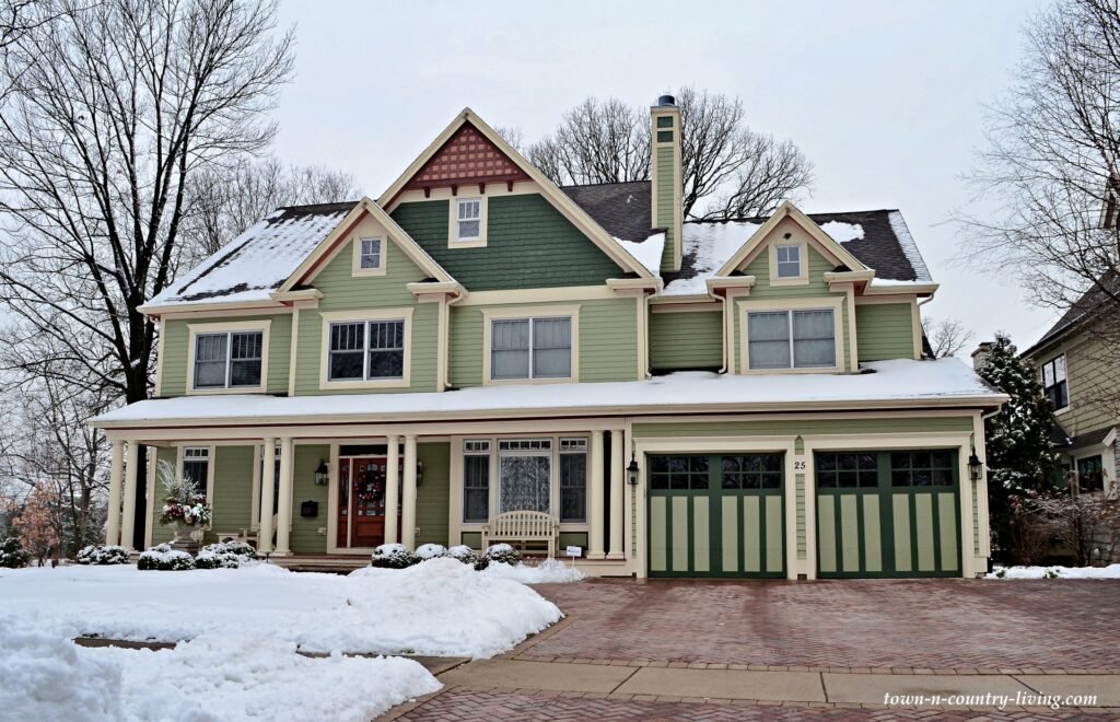 Light Green Custom Home in Naperville