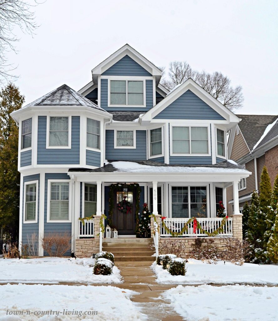 Light Blue Victorian Style New Home