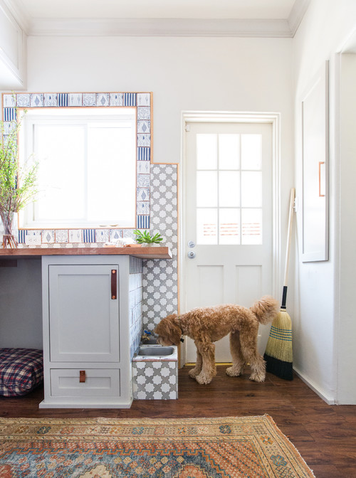 Pet Station in a Laundry Room and Mud Room Combo
