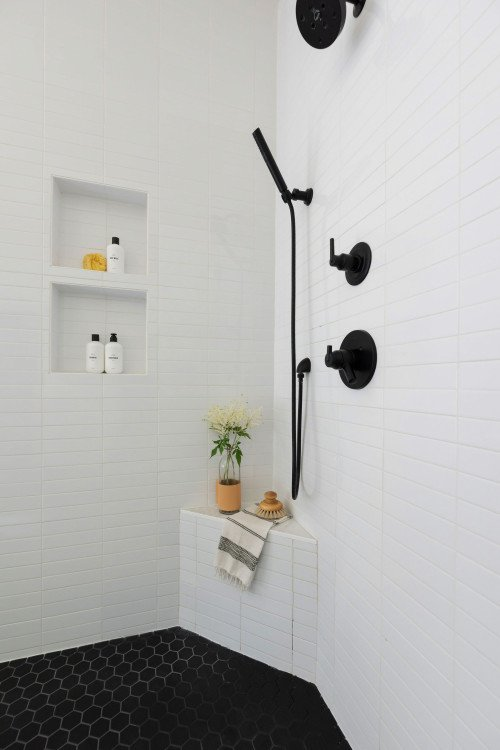 Hardware and Details of Walk-In Shower
