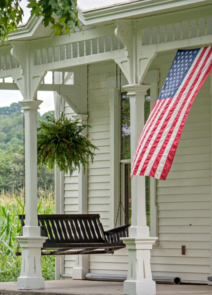 Country Front Porch Flag - Americana at its finest