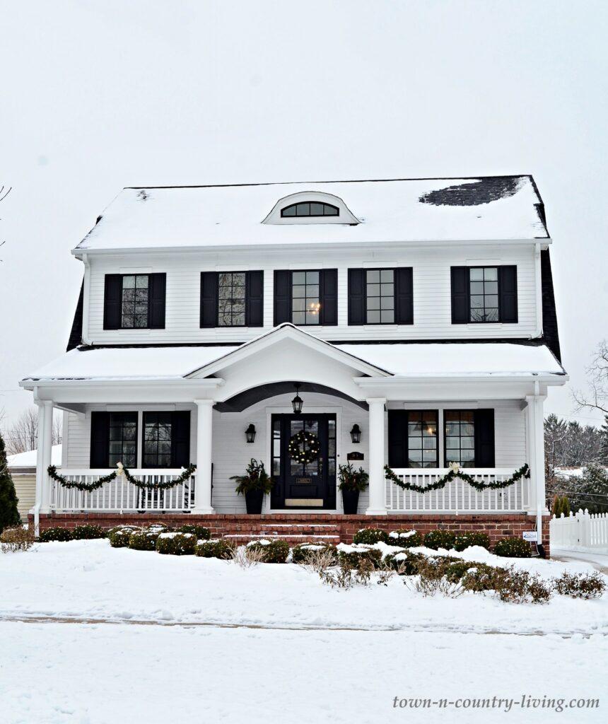 White Dutch Colonial Home Exterior