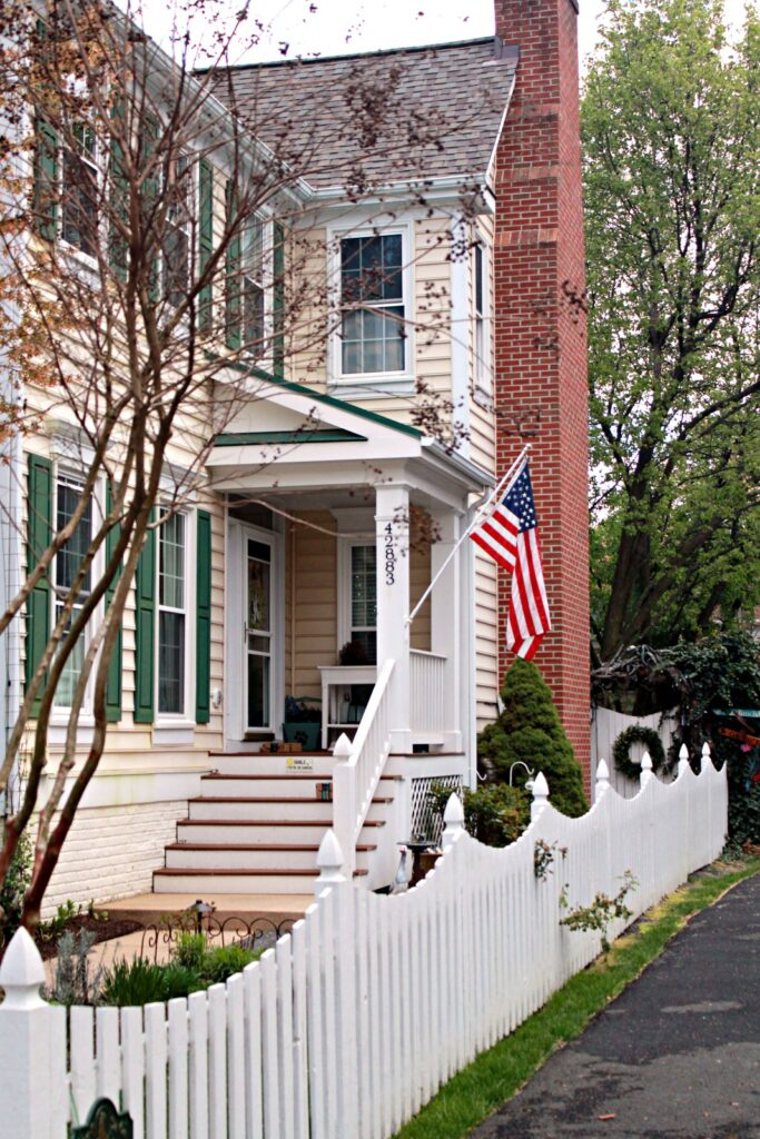 Historic Yellow House - Front Porch Flag