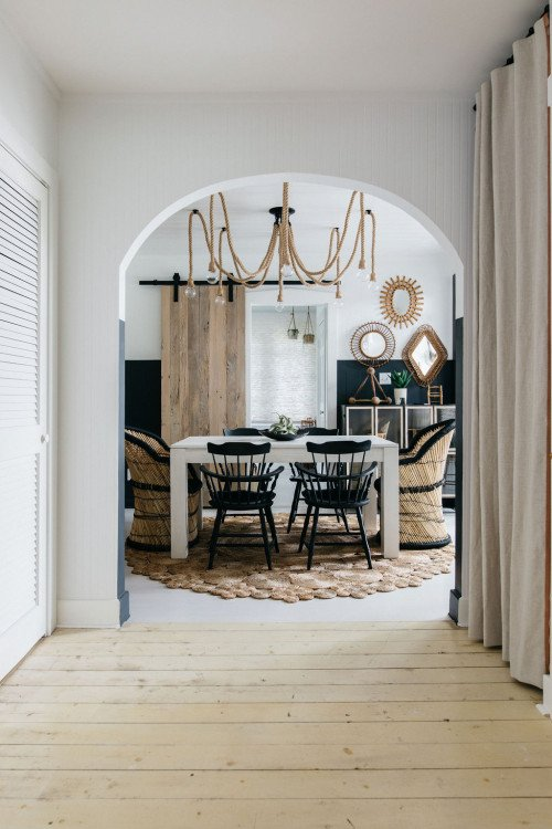 Small Eclectic Dining Room in Neutral Decor