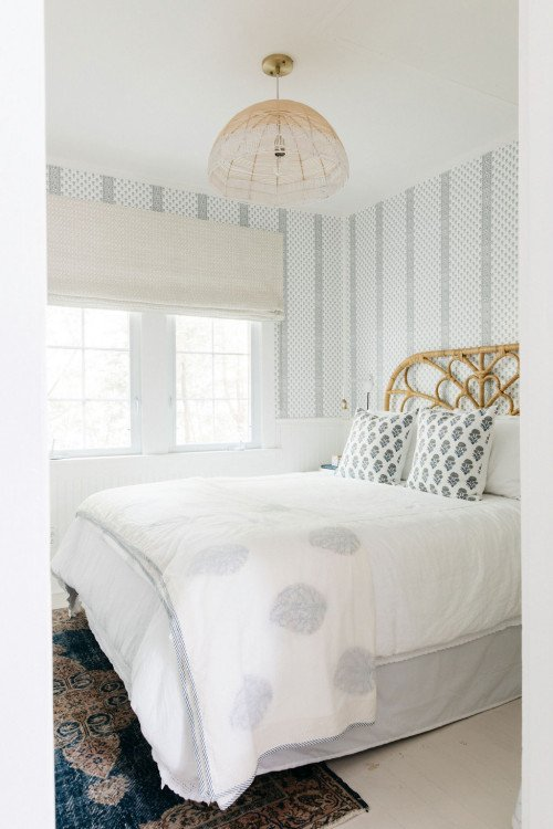 Eclectic beach cottage bedroom