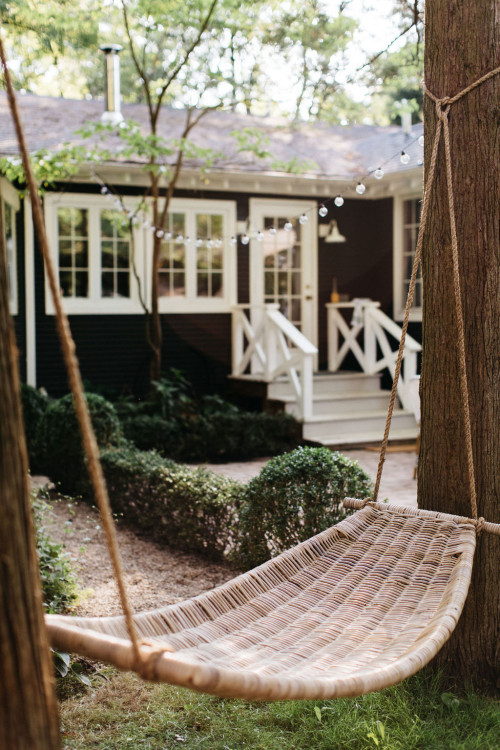Woven Hammock at Beach Cottage