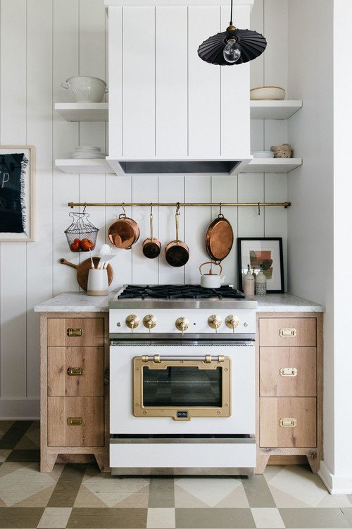 Eclectic Scandinavian Style Beach Cottage Kitchen